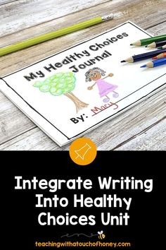 Looking for ways to integrate writing into your unit on making healthy choices? Students can write mini books, keep a journal, use hot seat questions, extend the anticipation guide, and complete exit cards. Writing Lesson Plans, Writing Lessons, Kids Writing, Writing Ideas, Health Activities, Spring Activities, Learning Styles, Fun Learning, Health Unit
