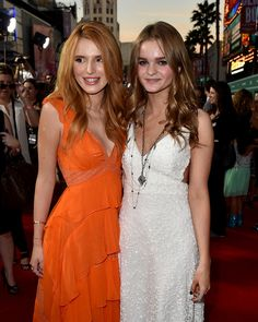 Bella Thorne and Kerris Dorsey attend the premiere of Disney's 'Alexander and the Terrible, Horrible, No Good, Very Bad Day' at the El Capitan Theatre on October 6, 2014 in Hollywood, California