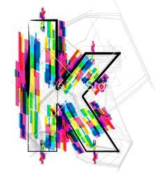 colorful-font--letter-k-vector-1720513.jpg 380×400 pixels