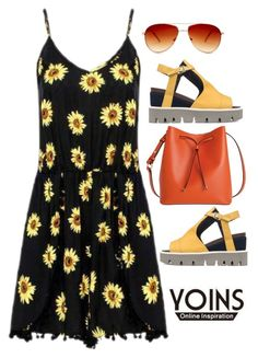 """Yoins Romper"" by ladygroovenyc ❤ liked on Polyvore featuring Strategia, Lodis and Steve Madden"