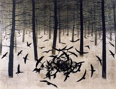 Crows and trees