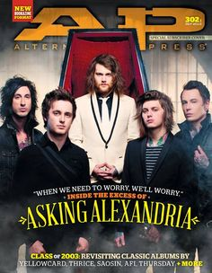 Sex, drugs and rock 'n' roll are all in a day's work for ASKING ALEXANDRIA. In this world-exclusive story, go behind the curtain to get all the dirt about the U. metalcore badboys and their new albu Good Charlotte, Asking Alexandria, My Chemical Romance, Danny Worsnop, Ben Bruce, Music Jokes, Mayday Parade Lyrics, Alan Ashby, The Amity Affliction