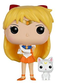 Funko POP Anime: Sailor Moon - Sailor Venus with Artemis