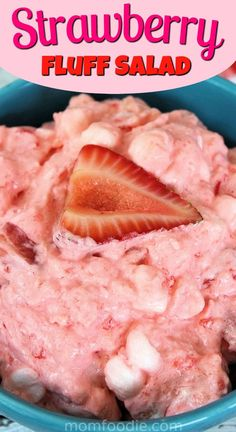 Strawberry Fluff Salad Recipe - Strawberry Jello Salad - This cookout and picnic staple is always a welcome summer dessert! Fluff Desserts, Köstliche Desserts, Delicious Desserts, Icebox Desserts, Alcoholic Desserts, Yummy Food, Healthy Food, Jello Deserts, Jello Dessert Recipes