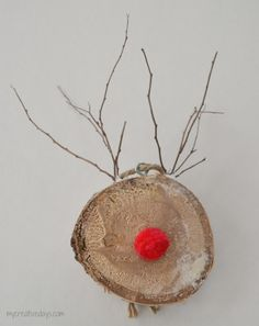 "Adorable ""Rudolph"" Ornaments! Birch Reindeer Ornaments 