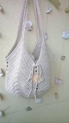 REJAdekor / Summer Bag ... natur Crochet Bikini, Crochet Top, Leto, Summer Bags, Bikinis, Swimwear, Projects, Handmade, Women
