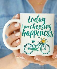 White 'Today I am Choosing Happiness' Mug