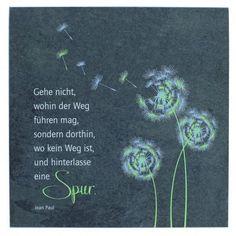 Wandrelief Pusteblume, Jean Paul 14,5 cm Schiefer - Motivationsgeschenke
