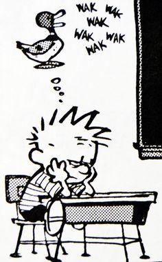 Calvin and Hobbes (DA) - Wak Wak Wak Wak Wak (must be in math class!)