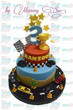 One of my Emirati client ask for a racing cars themed cake for his son….he asked me to do the cake design on photoshop (I'm not good at it) …well check out the design and final stage! Racing Cake, Race Car Cakes, Cars Cake Design, I M Not Good, Boy Birthday, Birthday Cake, Fathers Day Cake, Race Party, Cakes For Boys