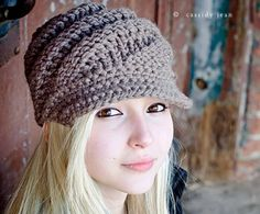 Knitting Pattern - Knit Hat Knitting Pattern PDF for The Swirl Beanie Hat With and Without Visor - Winter Accessories Winter Fashion. $5.00, via Etsy.