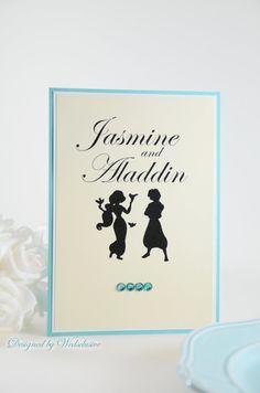Disney Couple Table Cards, Disney theme weddings, Fairy tale Weddings , Princess Weddings, 5x7 - Set of 10 on Etsy, $50.00