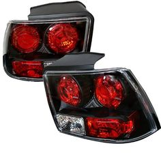 Spyder Ford Mustang 99-04 Altezza Tail Lights - Black - http://musclecarheaven.net/?product=spyder-ford-mustang-99-04-altezza-tail-lights-black