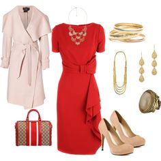 Classic red (same dress - different accessories)