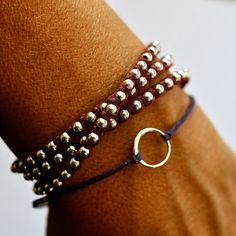 Good Karma bracelet Sterling silver circle by BeCharmedDesigns, $18.00