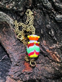 Glass Vessel Necklace Lampwork Glass Vessel by GlassHouseLampwork