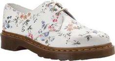 Dr. Martens 1461 3 Eye Shoe Oxfords Women White Wild Rose