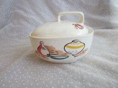 El Dorado Sugar Bowl Harmony House Salem China Mid Century Modern meets Southwestern Style, $24.99
