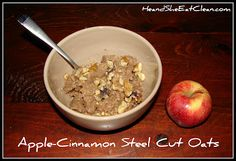 He and She Eat Clean: A Guide to Eating Clean... Married!: He and She Slow Cook :: Apple-Cinnamon Steel Cut Oats