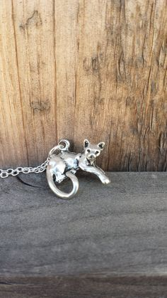 Cat Necklace  Silver Cat Charm by RibbitGifts on Etsy, $12.00