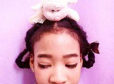Cute sheep hairstyle