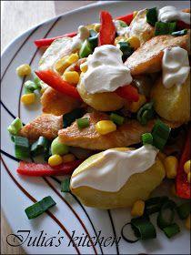 O salata pe gustul fiecaruia dintre voi! Trebuie sa o incercati cu incredere pentru a imi da dreptate! Este nemaipomenit de gustoasa!... Potato Salad, Food And Drink, Potatoes, Chicken, Cooking, Ethnic Recipes, Nails, Diet, Kitchen