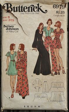 Butterick 6979 1970s 70s Betsey Johnson of by EleanorMeriwether