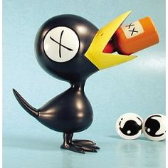 Oh Drinky Crow, I love you so. This figurine of Tony Millionaire's Drinky Crow comes with a bottle of booze and two sets of eyes (drunk and sober).