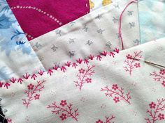 Crazy Quilting Sampler, Part 3: More Stitchin' || Button-Button