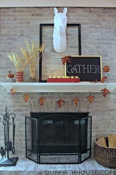 our fifth house: Fall Mantle
