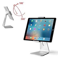 Amazon.com: Viozon ipad Pro Stand, Tablet Stand 360° Rotatable Aluminum Alloy Desktop Mount Stand for Ipad Pro Ipad Air Ipad Mini Surface and Surface Pro: Cell Phones & Accessories