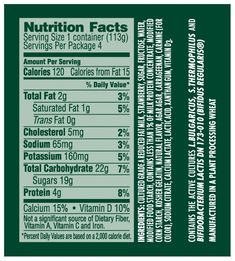 Activia Yogurt Nutrition Label – Besto Blog intended for Activia Yogurt Nutrition Label18939