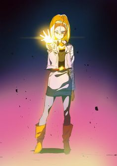 Day 18 | Android 18 by moxie2D on DeviantArt #DBZ