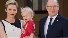 Prince Albert, Princess Charlene and Prince Jacques received the players...