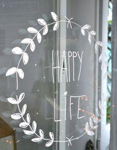 résonances - idées pour fenêtre, vitrine... Changement de texte selon le moment, l'occasion...