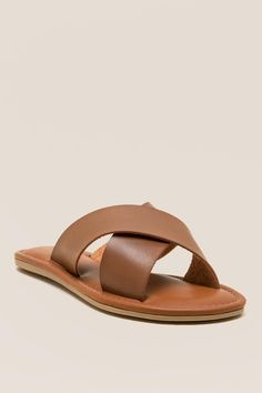 4510198bf4df1 MIA Freya Slide Sandal T Strap Sandals