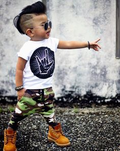 infant clothing sets on sale at reasonable prices, buy Children Baby Clothing Set Summer Baby Kids Fashion Cartoon Short Sleeve T-Shirt+Camouflage Pants Toddle Baby Boy Clothes from mobile site on Aliexpress Now! Toddler Boy Fashion, Little Boy Fashion, Toddler Boys, Kids Boys, Baby Boys, Carters Baby, Infant Toddler, Fashion Kids, Fall Fashion