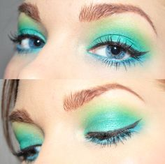 turquoise and green eyeshadows