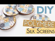 Créer des sous verres en pâte polymère à l'aide de silkscreens avec Fancy Puppet - DIY déco Polymère - YouTube
