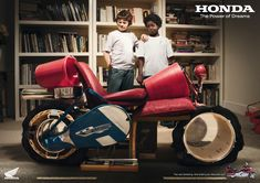 creative honda print ads