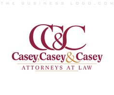 Casey, Casey & Casey - Attorneys at Law logo design created by www.TheBusinessLogo.com