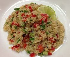 quinoa salad with lime vinaigrette