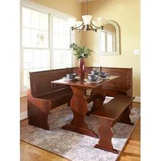 Essential Home Emily Breakfast Nook- Walnut