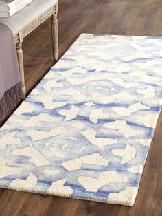 Dip Dye Hand-Tufted Wool Rug from Accent Rugs: Runners, Rounds,
