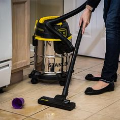 Stanley 5 Gallon Stainless Steel Wet/Dry Vacuum | ON SALE $39.88  Perfect Wet & Dry Vacuum for your home, office, or garage.  #vacuum #wetdryvacuums #shopvac #Stanley #Deals #home #office #garage #sale