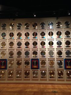 Walls & walls of gold records at the Country Music Hall of Fame!