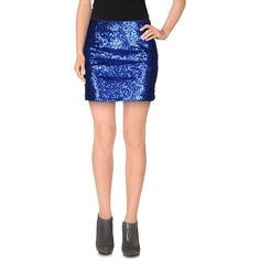Wyldr Mini Skirt ($51) ❤ liked on Polyvore featuring skirts, mini skirts, blue, sequin skirt, mini skirt, blue skirt, mini tube skirt and zipper skirt
