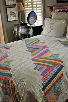 Log Cabin Quilt with Mirror Ball Dot Fabric   Flickr - Photo Sharing! Log  Cabin 1cf69ae1f3db