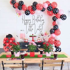 This little lady bug first birthday party is just the absolute cutest thing ever! Wild One Birthday Party, First Birthday Themes, Girl 2nd Birthday, Birthday Party Favors, First Birthday Parties, Birthday Decorations, Frozen Birthday, Birthday Bash, Birthday Ideas