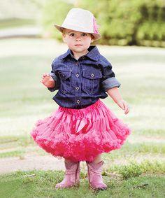 RuffleButts Denim Button-Up Bodysuit - Infant